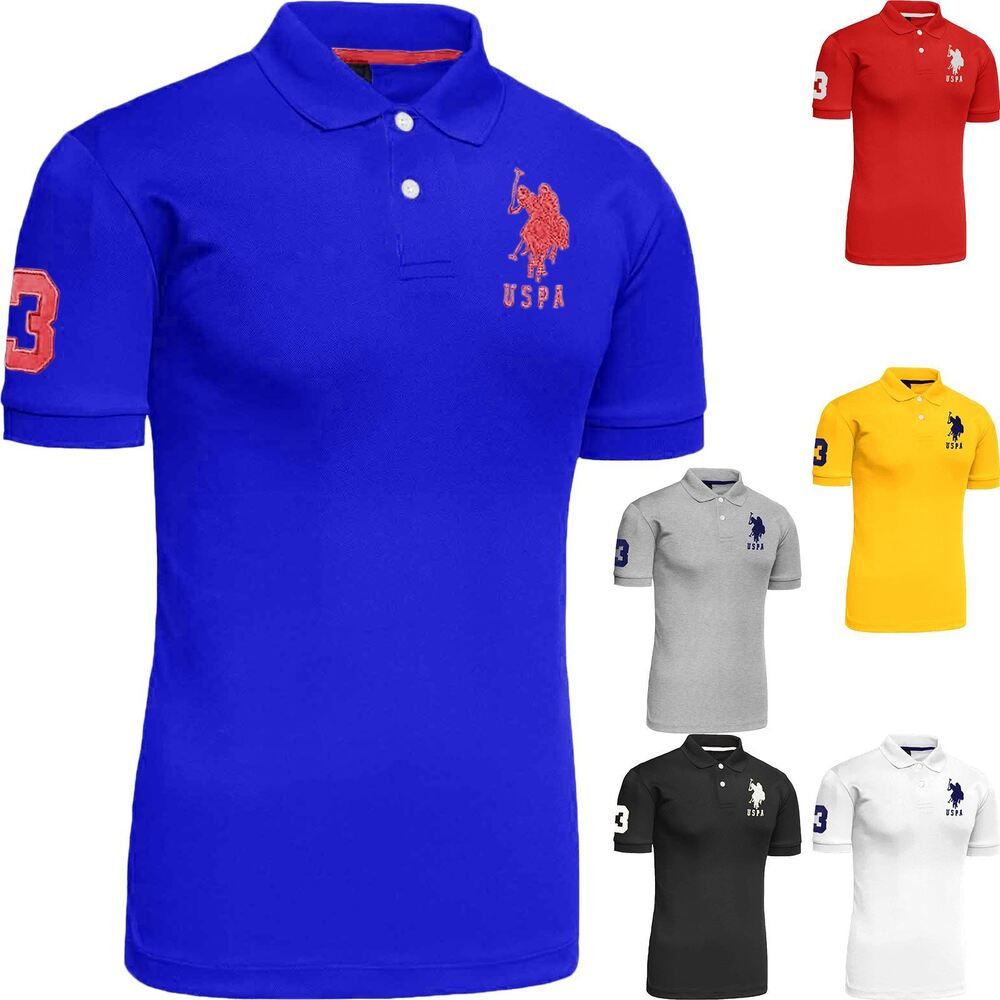 Mens polo tshirt original top designer us polo assn t for Best polo t shirts for men
