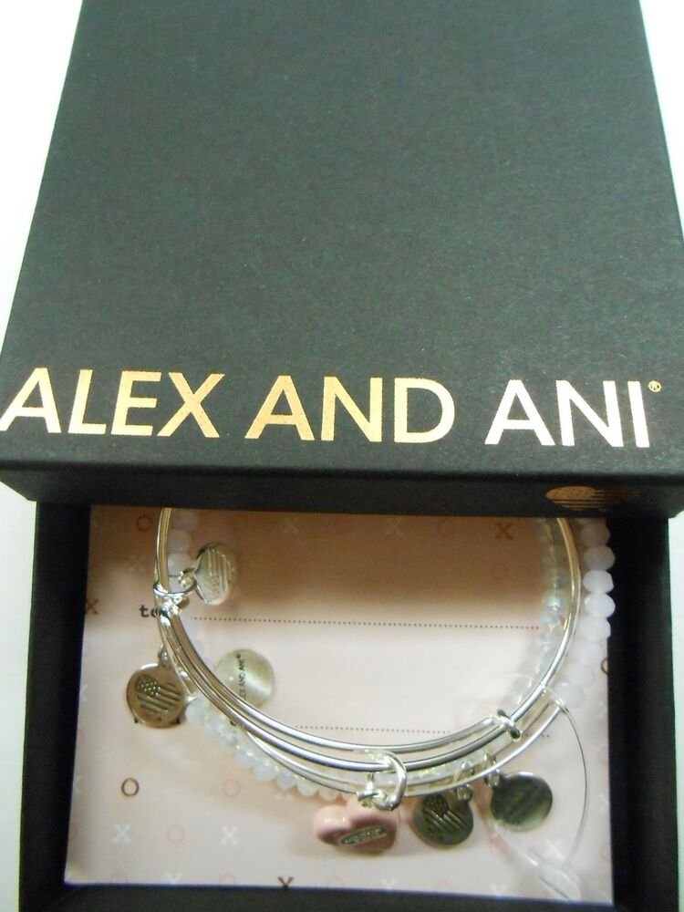 letter a alex and ani alex and ani sweet set of 3 charm bangle bracelets silver 20896 | s l1000