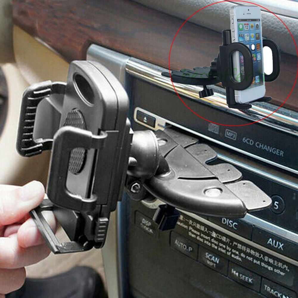Magnetic Cell Phone Mount >> Universal Cell Phone Car Holder CD Slot Mount - Smartphone, iPhone, Samsung, GPS | eBay