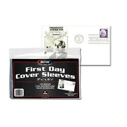 Pack of 100 Sleeves BCW First Day Cover Holds #6 Envelope 3 15/16 X 6 7/8(#CS12)