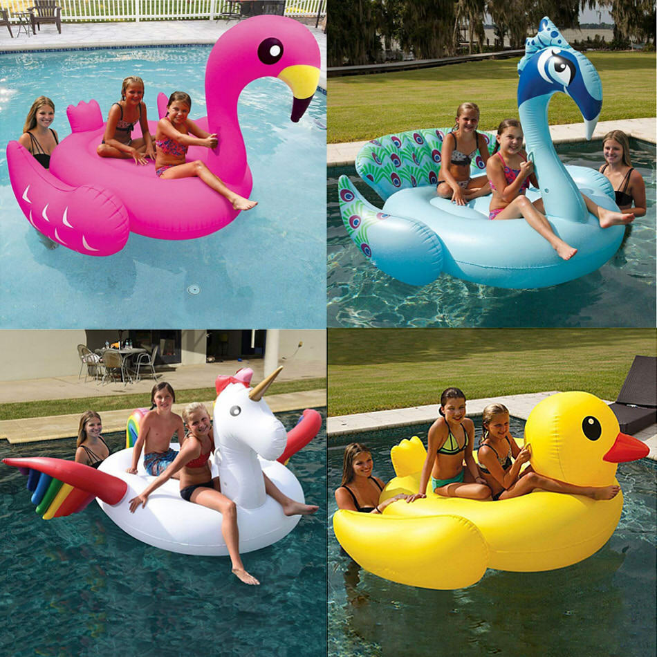 Sun Pleasure Giant Pool Float Shape Flamingo Peacock