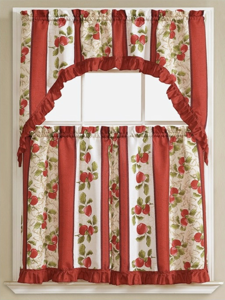 Apple Vine Complete 3 Pc Kitchen Curtain Tier Amp Swag Set