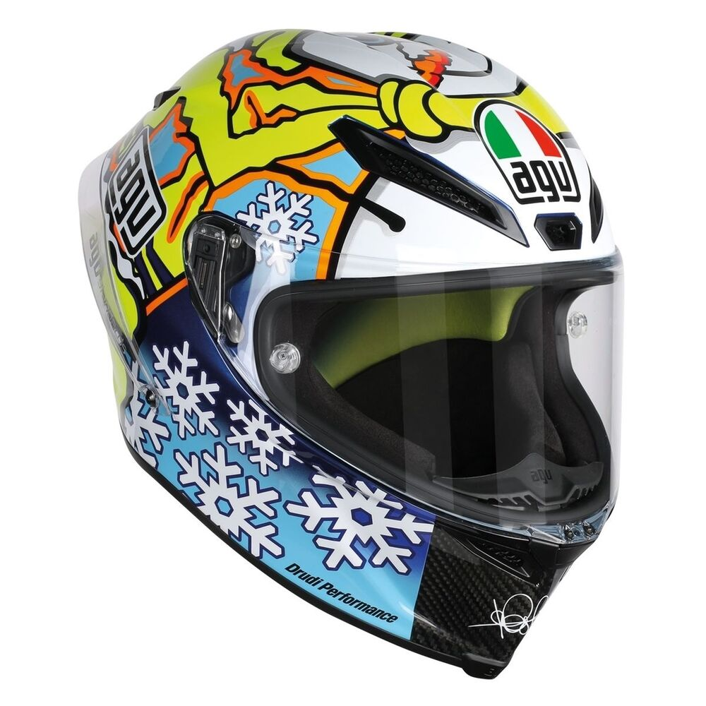 agv pista gp winter test snow man 2016 helmet dot ebay. Black Bedroom Furniture Sets. Home Design Ideas