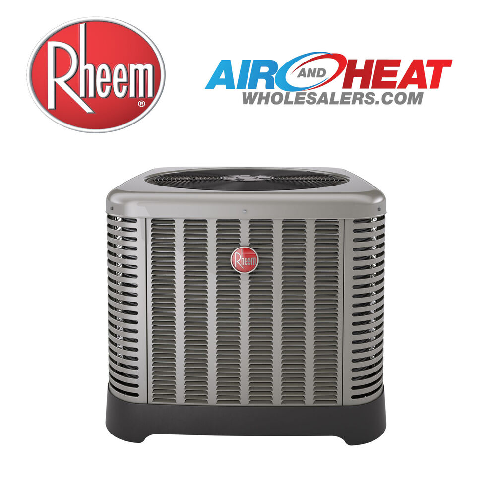 Air Conditioner Condenser Units : Rheem ton condensing unit seer ac charged r a