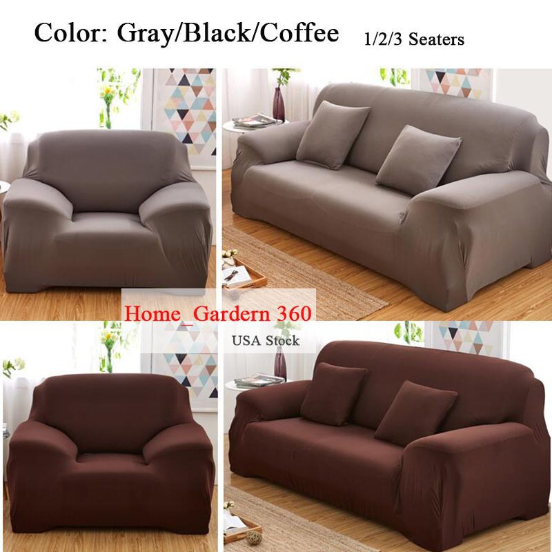 1/2/3 Seater High Elasticity Sofa Covers Full Cover Couch