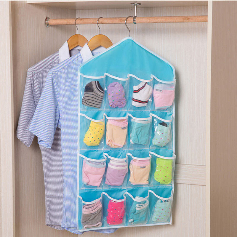 16pocket over the door shoe organizer hanging storage hanger space saver rack ebay. Black Bedroom Furniture Sets. Home Design Ideas