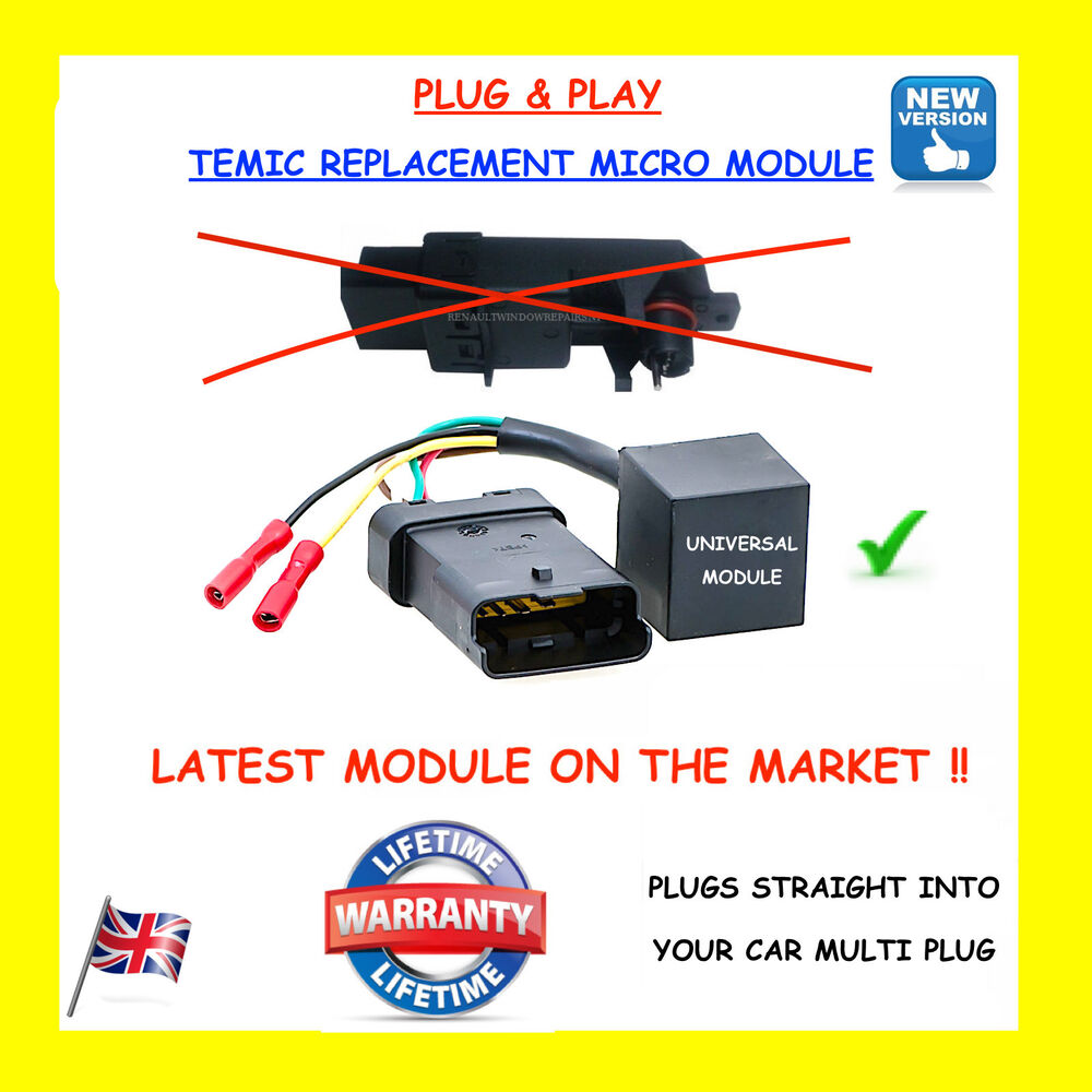 Renault Megane    Scenic Electric Window Module    Motor Regulator   Repair