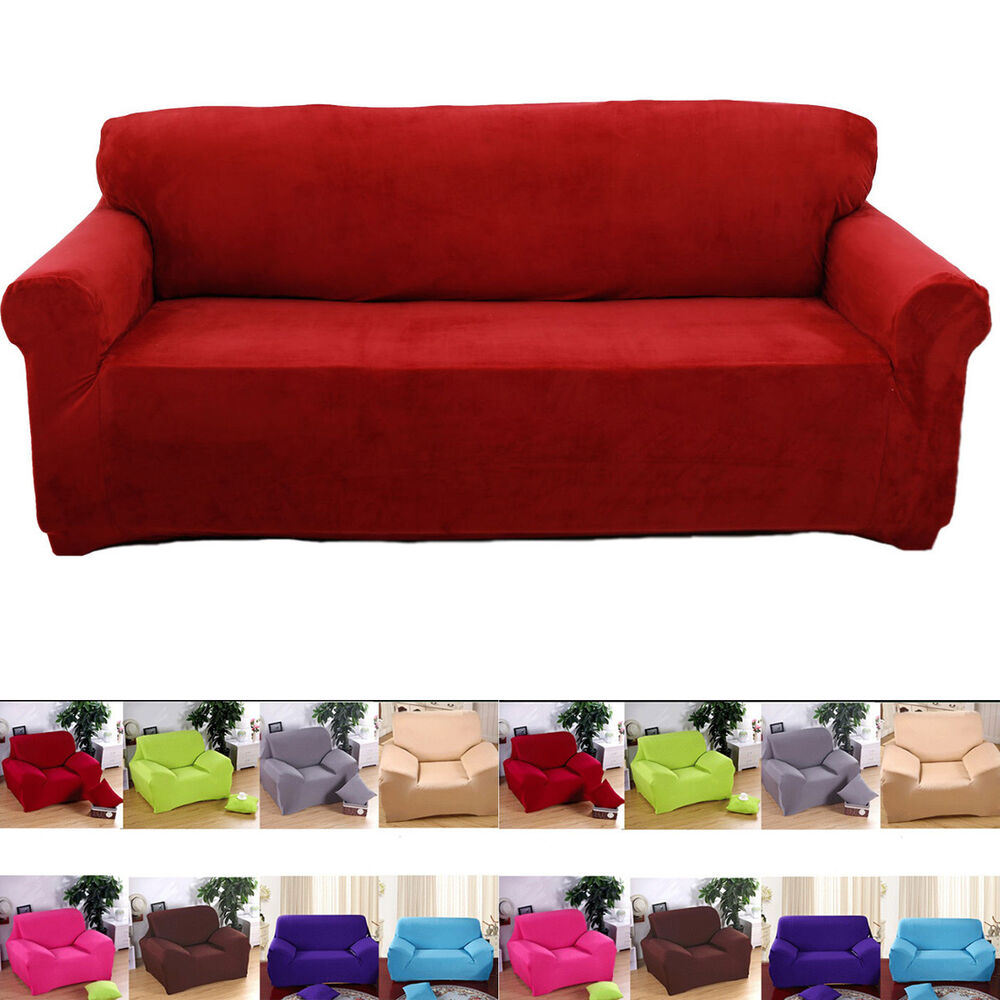 super fit stretch couch slip cover 1 2 3 4 seater sofa slipcover chair protector ebay. Black Bedroom Furniture Sets. Home Design Ideas