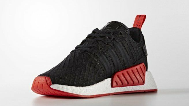 new concept 50be2 50631 Details about Adidas NMD R2 PK size 12.5 Black Core Red. BA7252. primeknit.  ultra boost bred