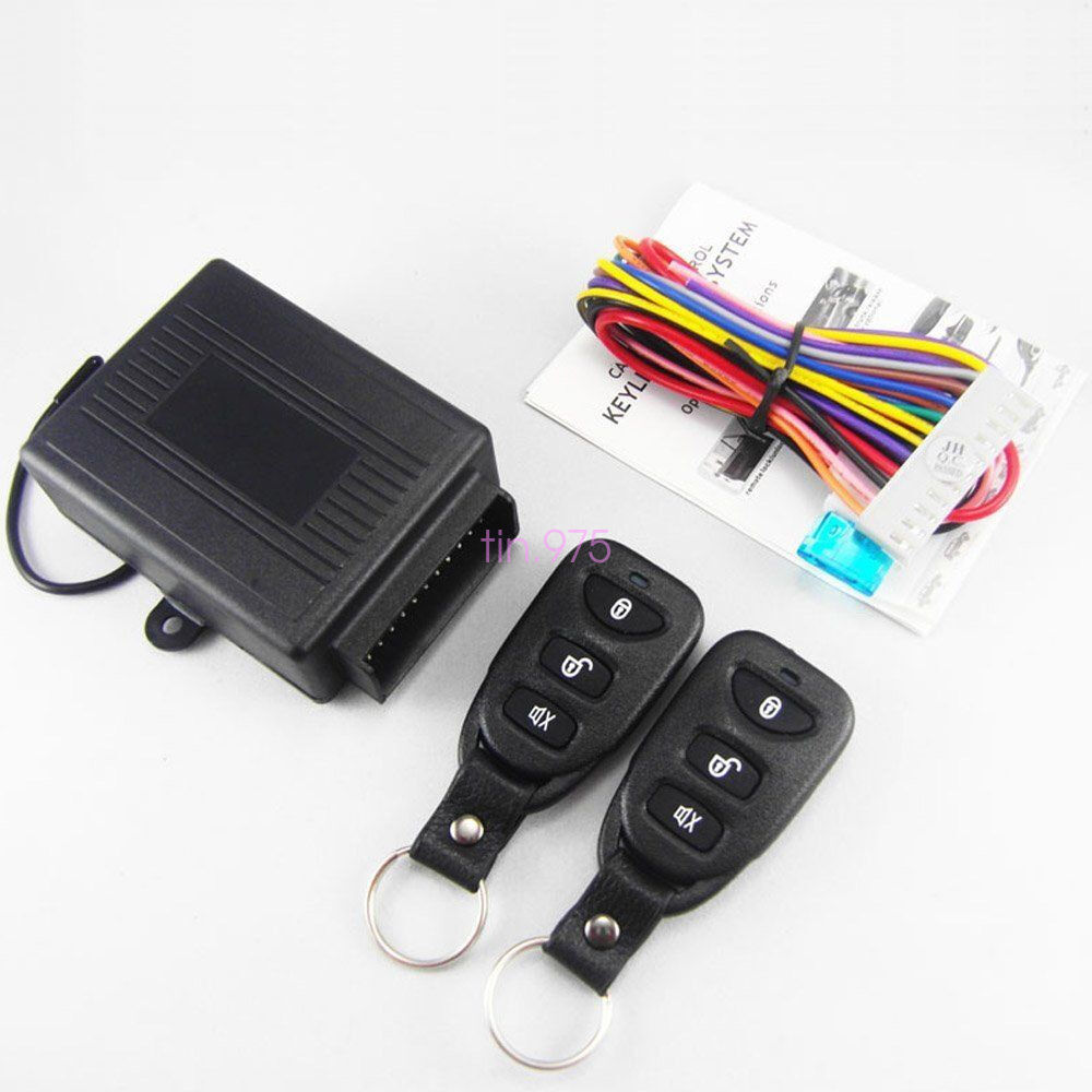 black 10 14v wireless remote control car suv truck keyless entry system lock kit ebay. Black Bedroom Furniture Sets. Home Design Ideas