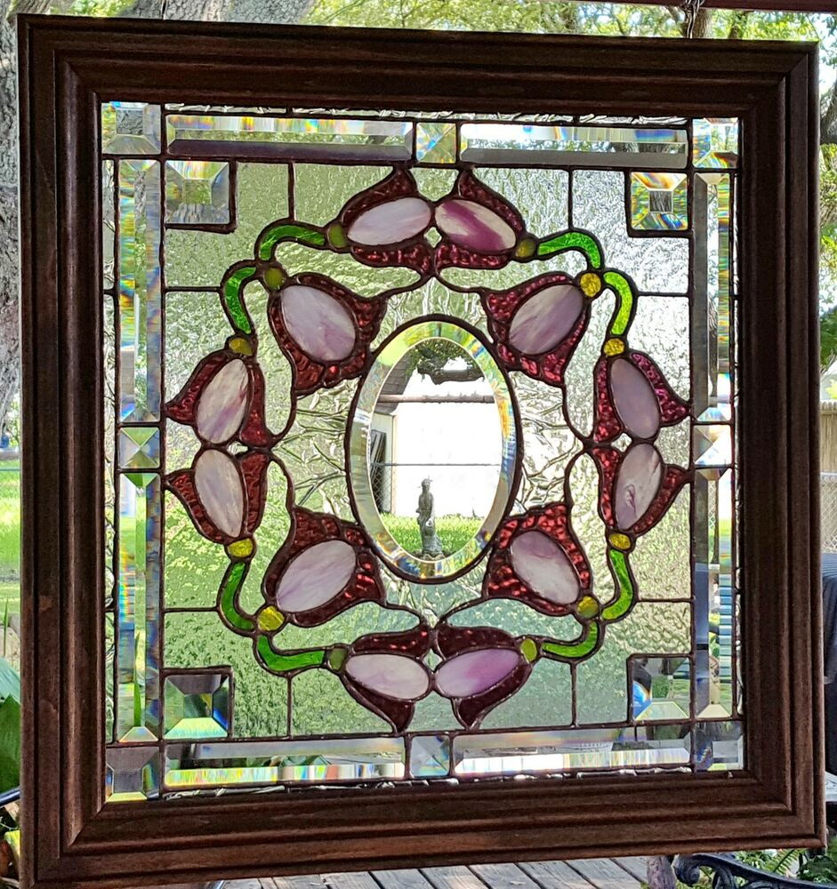 style stained glass window panel