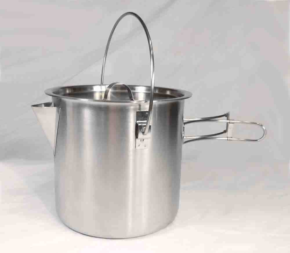 Ounce stainless steel camping pot cooking kettle