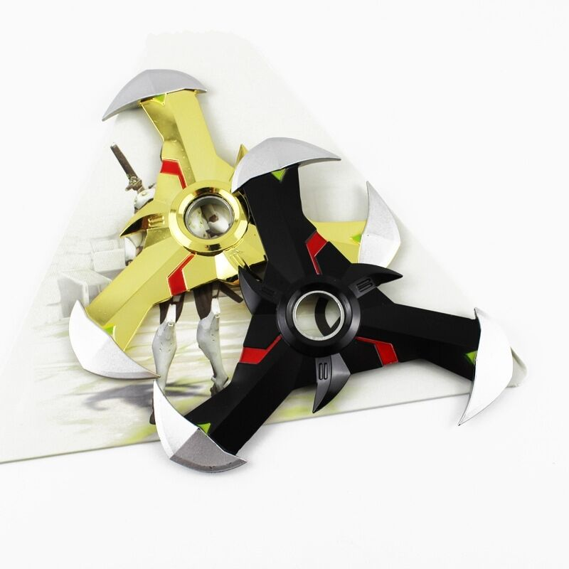 overwatch genji oni dart rotatable metal shuriken edc toy hand spinner fidget ebay. Black Bedroom Furniture Sets. Home Design Ideas