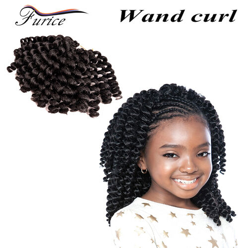 Jumpy Wand Curl Weave Hair Extension 8 Inch Crotchet Twist