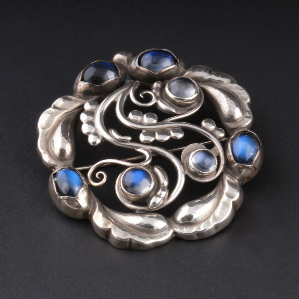 sale brooch lots silver auctions and number moonstone lot