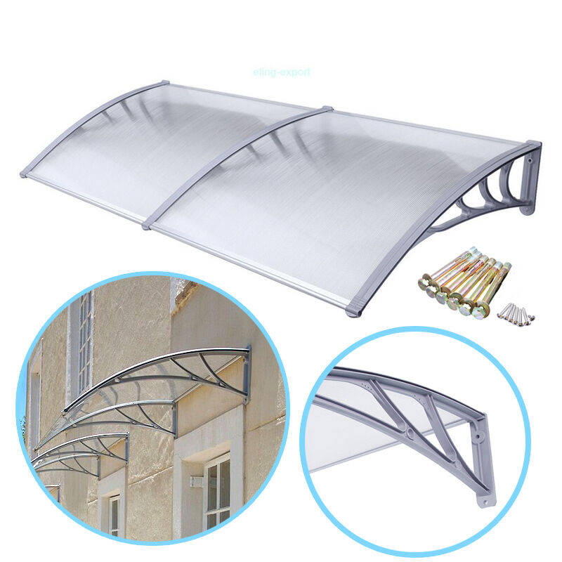 Diy Patio Door Installation: 6.5ft DIY Overhead Outdoor Awning Patio Clear Cover Door
