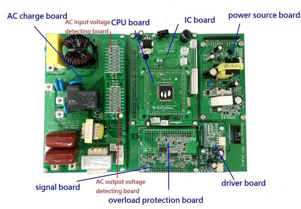 power jack new control board of lf pure sine wave power
