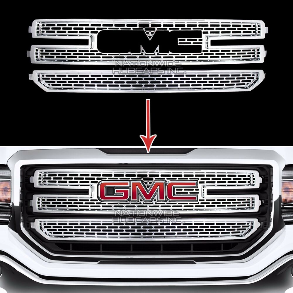 2016 18 Gmc Sierra 1500 Chrome Snap On Grille Overlay 3