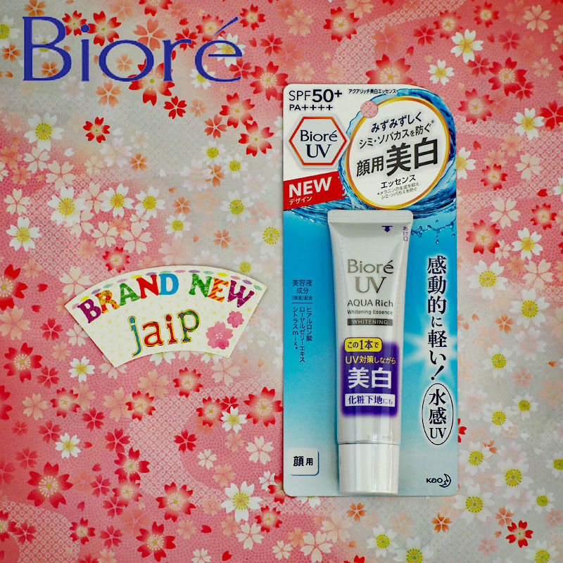 Biore UV☆KAO Japan-SUNSCREEN Aqua Rich Whitening Essence SPF50+/PA++++ 33g ,JAIP | eBay