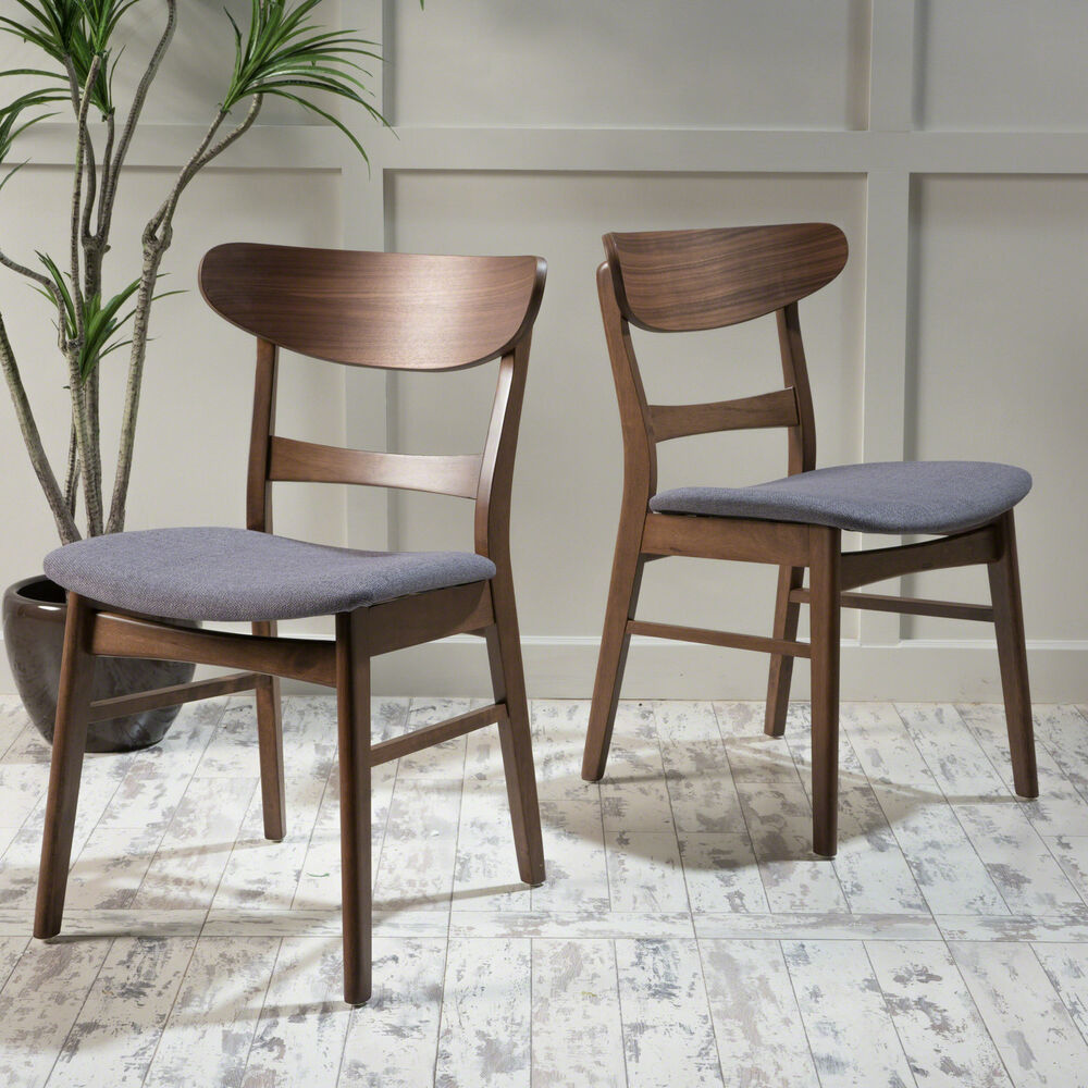 Helen mid century modern dining chair set of 2 ebay for Contemporary seating chairs