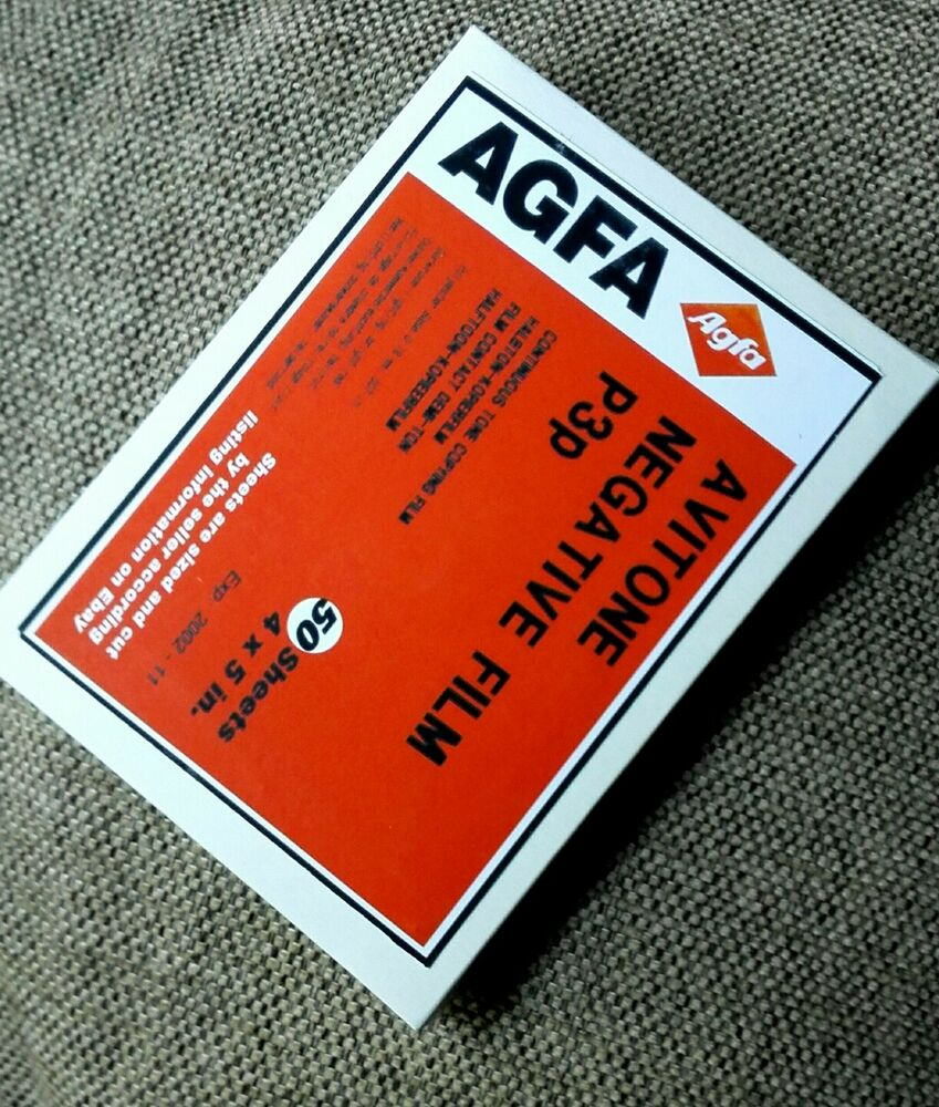 agfa 4 x 5 inch sheet film lf ortho b w continious tone negative avitone p3p ebay. Black Bedroom Furniture Sets. Home Design Ideas