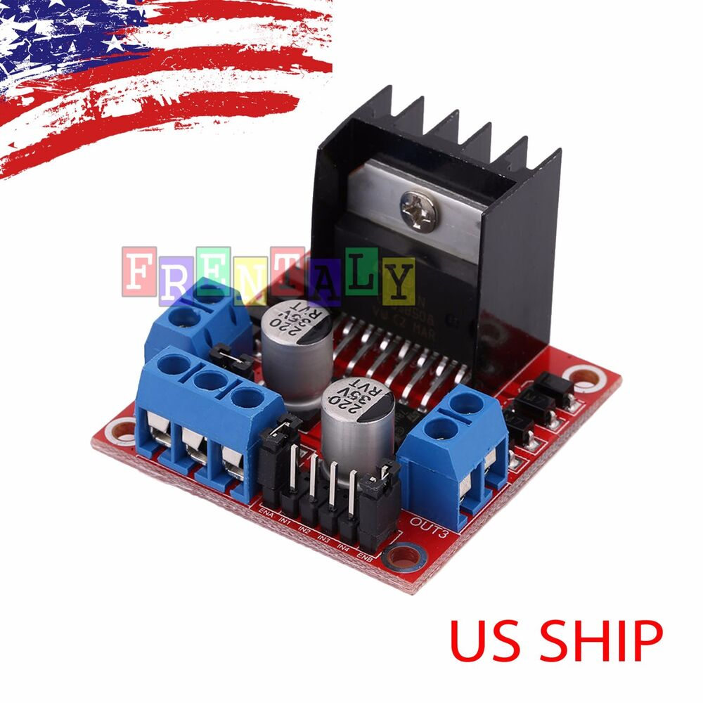 Dual h bridge dc stepper motor driver controller board for Arduino controlled stepper motor