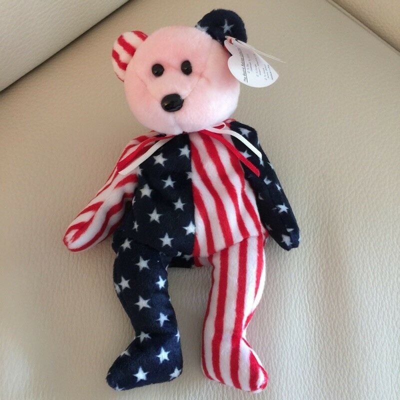 0076dad8d9e Details about TY BEANIE BABY Beanie Babies  1999 SPANGLE PINK RED FACE   ERROR