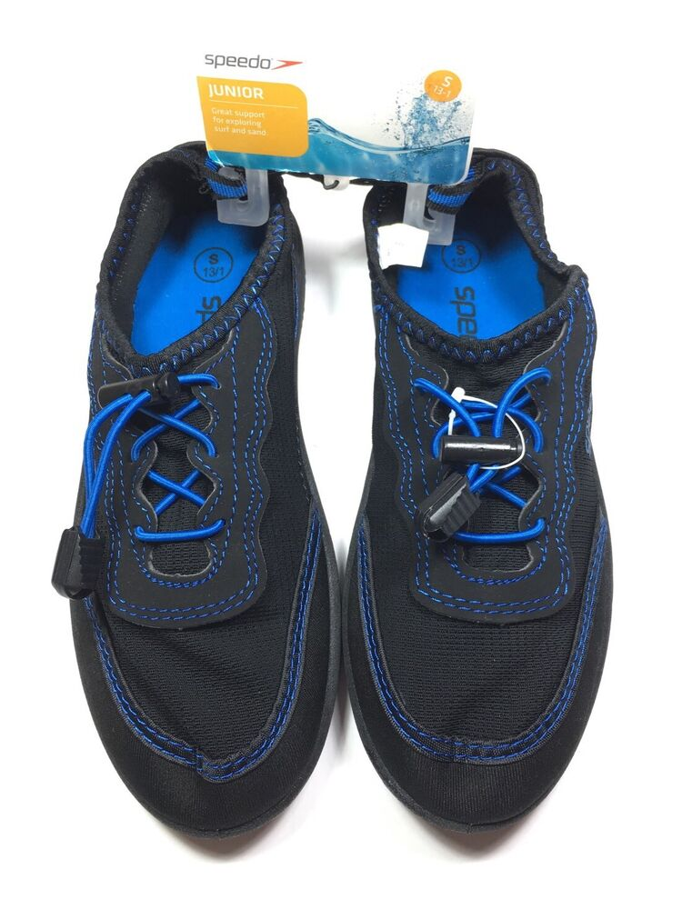 c70806143163 New with tag KIDS SPEEDO WATER SHOES Navy AND Blue Size Junior (Small 13-1)