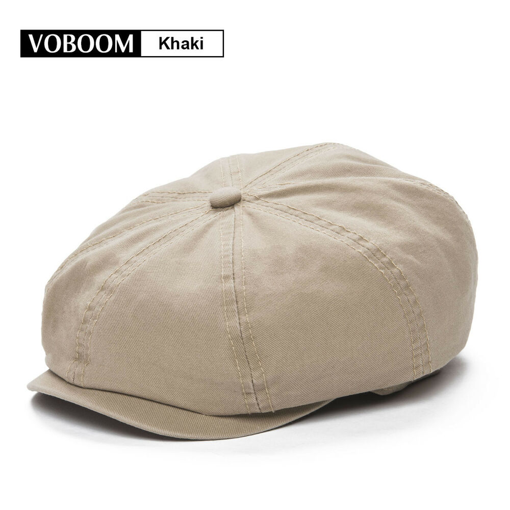 a3dd61050d3 Details about Men s KHAKI Solid Cotton Newsboy Cap Beret Gatsby Ivy Hat  Golf Cabbie Size S M