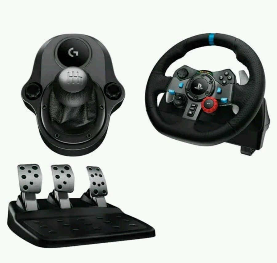 Logitech Driving Force G29 Steering Wheel Pedals