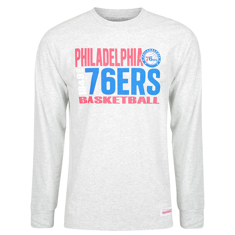Mitchell   Ness NBA Philadelphia 76ers Quick Whistile Long Sleeve T-Shirt 2cc6eae52