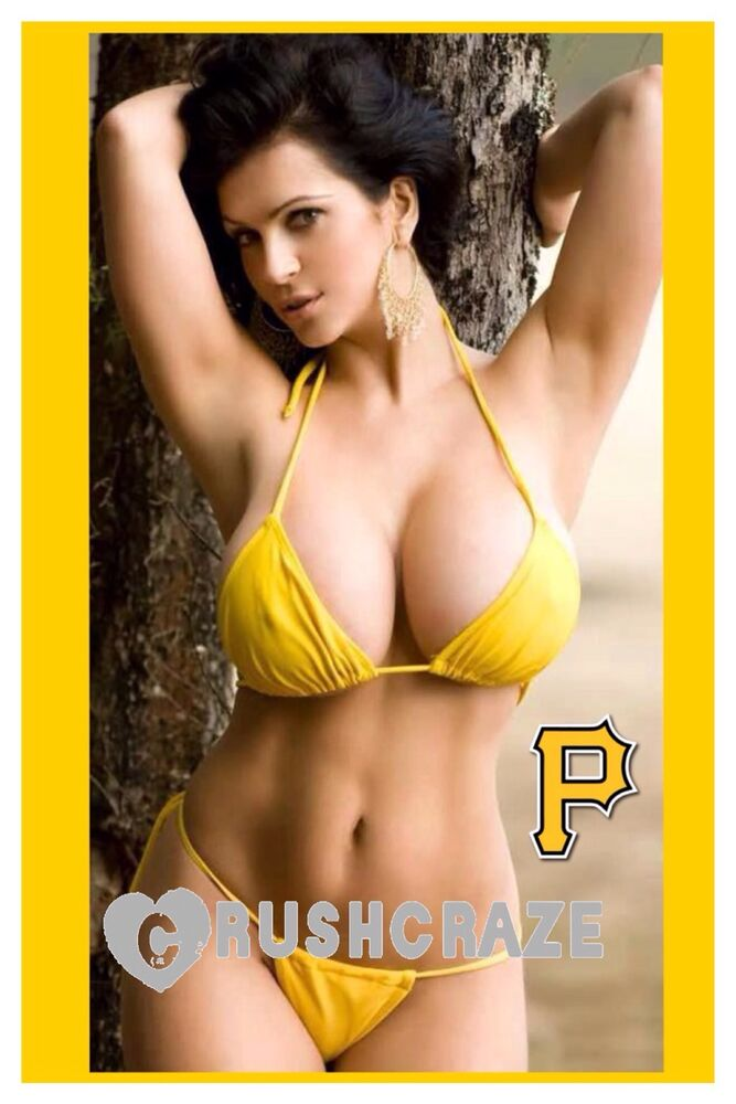 Details about SUPER SEXY PITTSBURGH PIRATES MLB PINUP BABE 2