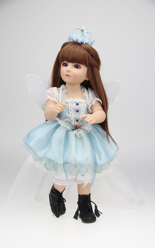 Bjd Ball Jointed Doll High Vinyl Girl Toy 18in 45cm Blue