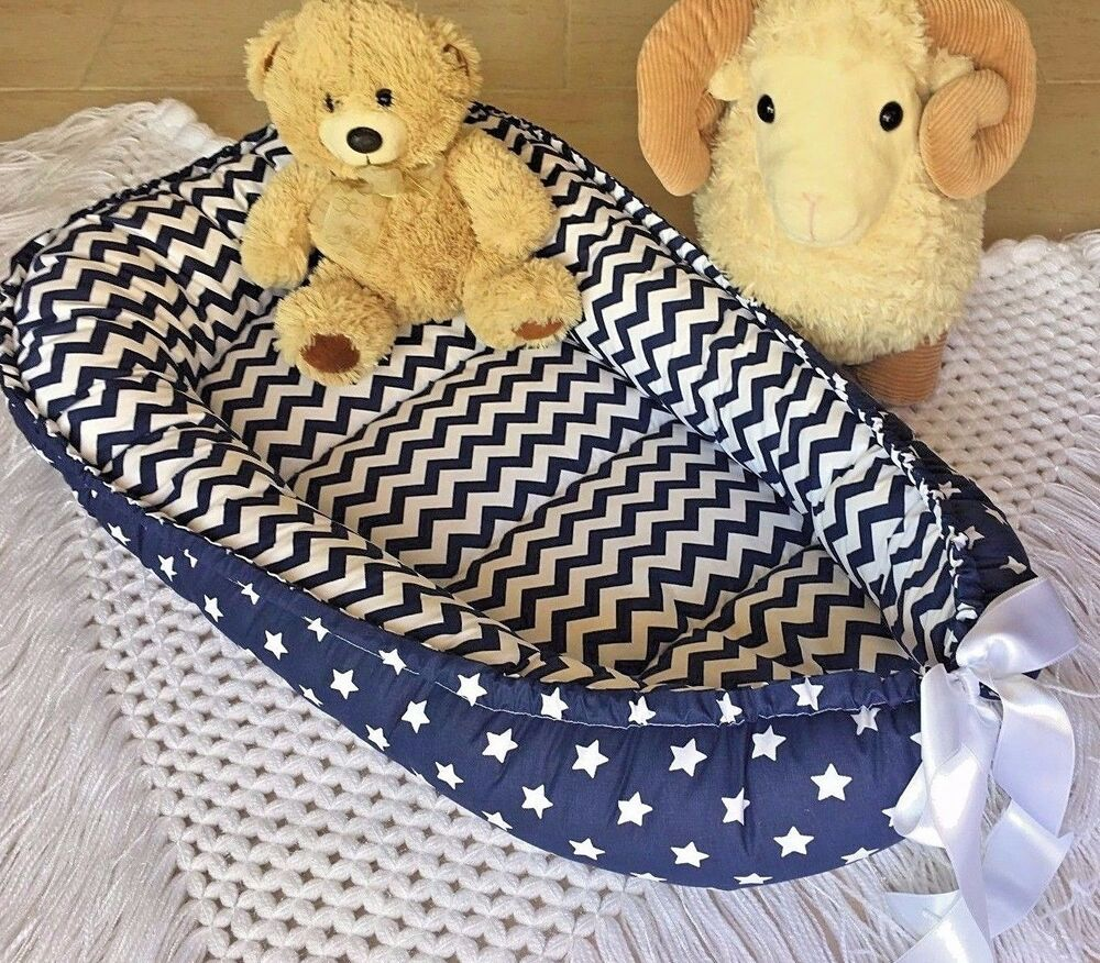 Babynest Navy Baby Nest Co Sleeper Pod Newborn Snuggle Bed
