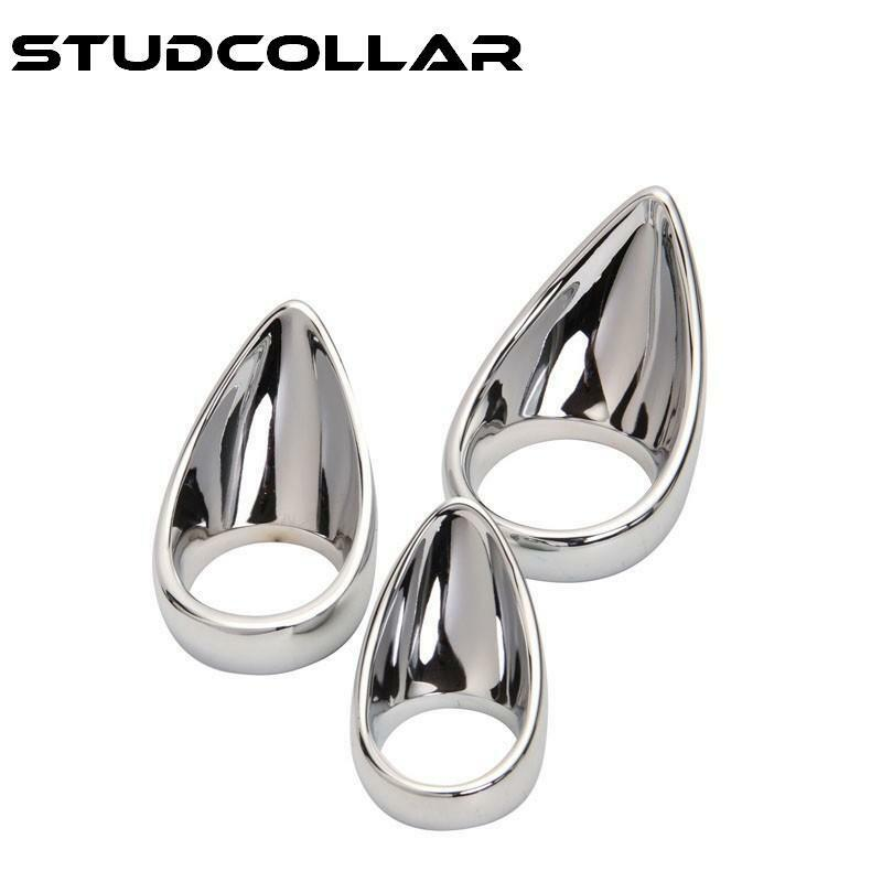 Super Shiny Metal Tongue Shaped Penis Ring Health & Beauty Studcollar-ultraheavy-tear-drop