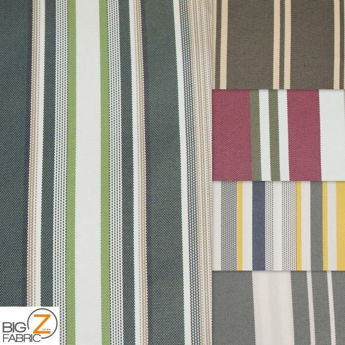 Oxford Stripe Outdoor Canvas Waterproof Fabric By The Yard