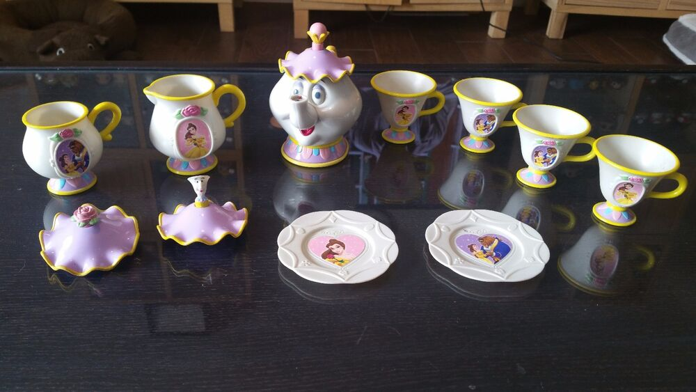 Beauty And The Beast Talking Mrs Potts Tea Set Disney