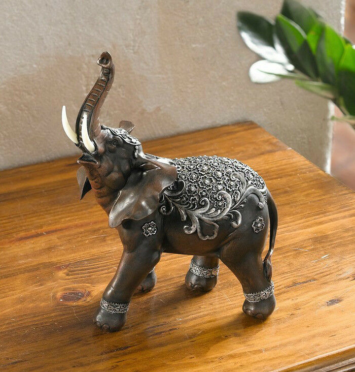 deko figur indischer elefant 26cm tierfigur skulptur ebay. Black Bedroom Furniture Sets. Home Design Ideas