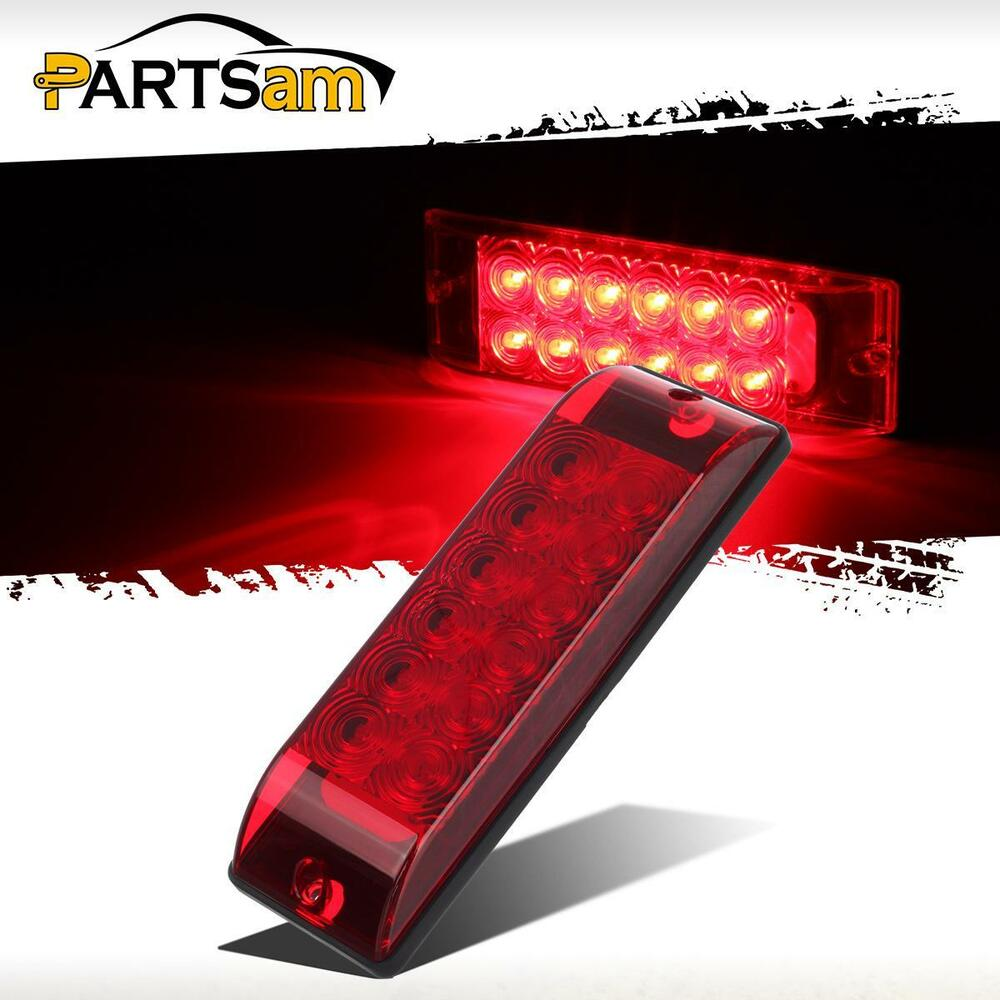 Submersible 8 Quot X 2 5 Quot Surface Mount 12 Led Red Stop Turn