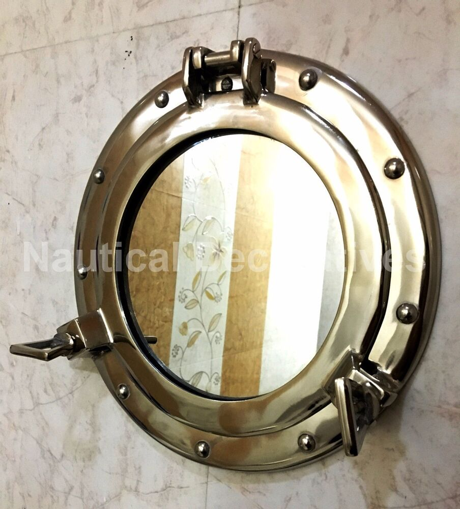 nautical mirrors bathroom silver porthole nautical wall mirror shabby vintage 13798