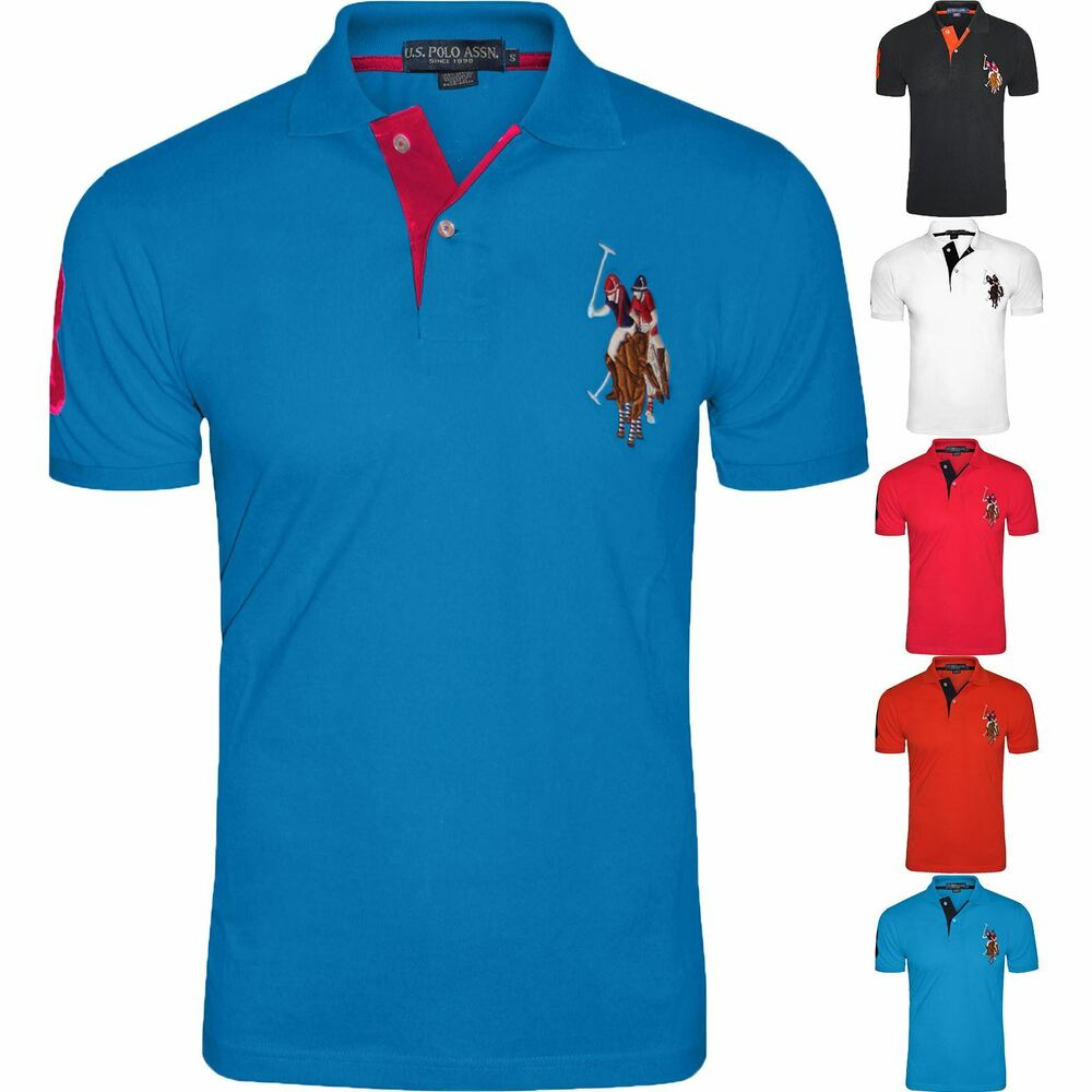 mens us polo assn short sleeve big pony contrast lauren. Black Bedroom Furniture Sets. Home Design Ideas