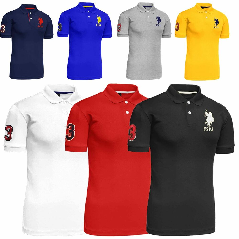 New mens us polo assn 2017 design tshirt top coloured for Us polo shirts for mens