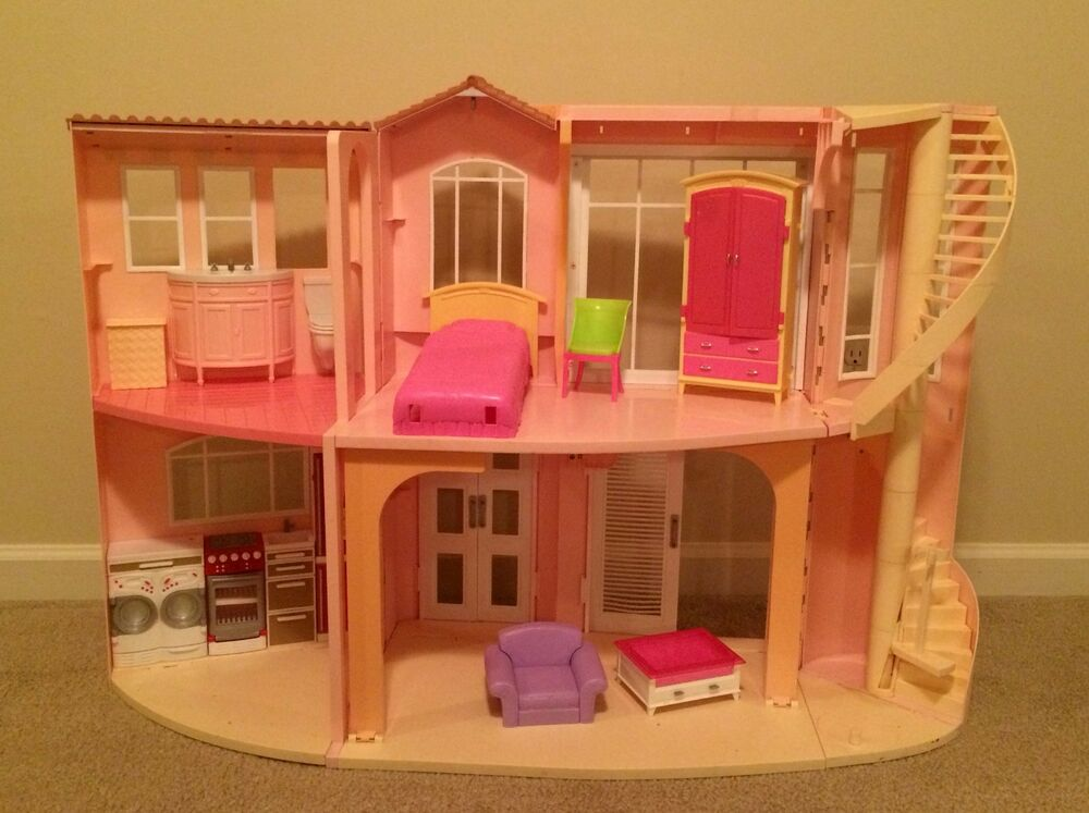 Barbie Doll 3 Story Dream House Dollhouse Sounds Furniture Movable Stairs Mattel Ebay