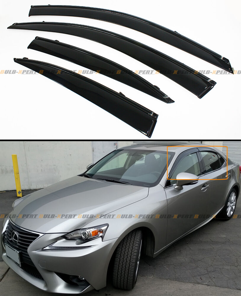For 2014 2019 Lexus Is250 350 200t Vip Smoke Window Visor