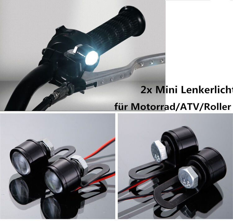 12v motorrad lenker licht led scheinwerfer. Black Bedroom Furniture Sets. Home Design Ideas