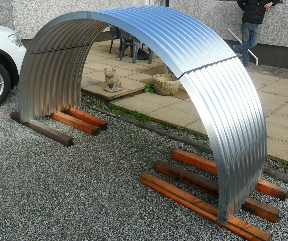 Curved Roofing Sheets : Brand new galvanised steel corrugated curved roofing