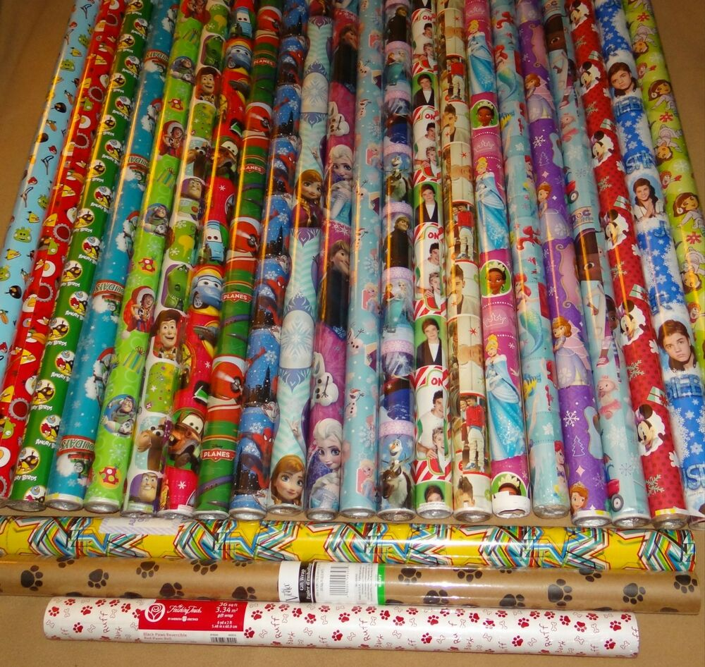 hard to find gift wrap wrapping paper rolls ebay. Black Bedroom Furniture Sets. Home Design Ideas
