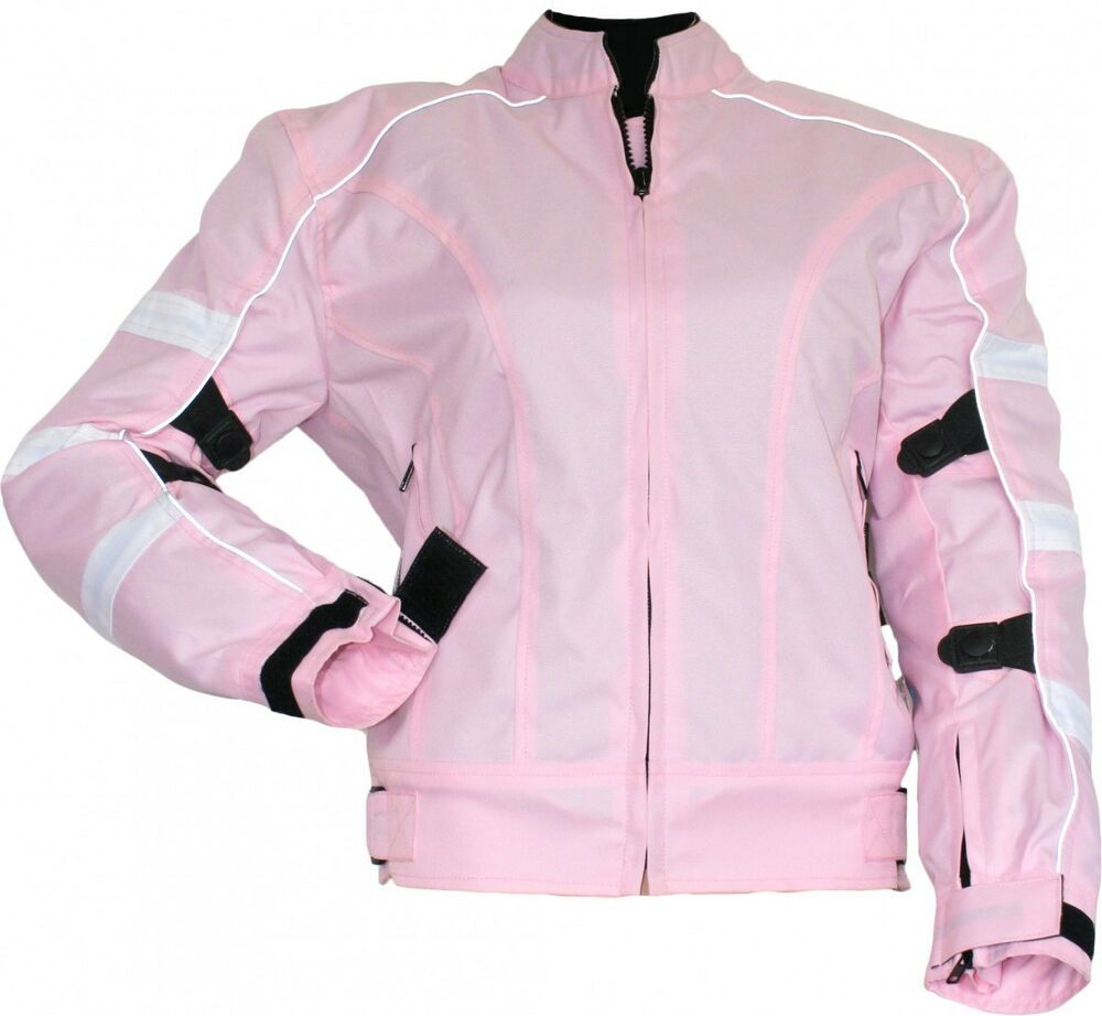 german wear damen motorradjacke textilien jacke kombigeeignet rosa ebay. Black Bedroom Furniture Sets. Home Design Ideas