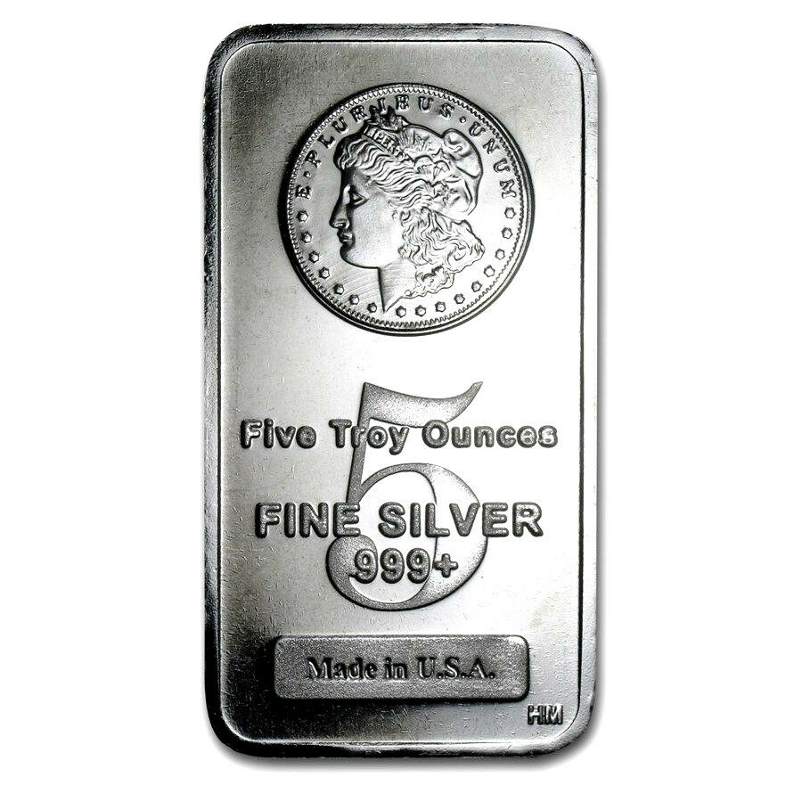 5 Troy Ounce 999 Fine Silver Morgan Bar Bu 3 99 9