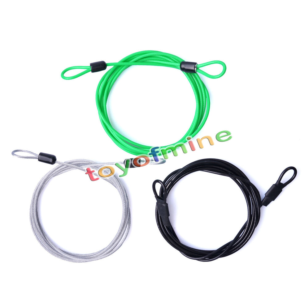 200cm x 2 5mm cycling sport security loop cable lock bicycle scooter u lock ebay. Black Bedroom Furniture Sets. Home Design Ideas